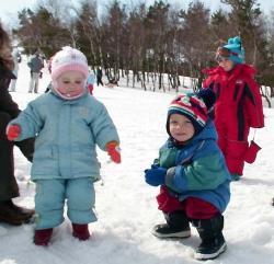 Подвижные игры зимой для детей